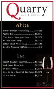 Copy of Wine Menu Template